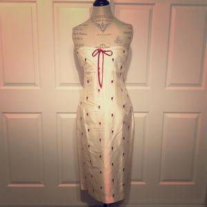 Shoshanna strapless sheath cocktail dress